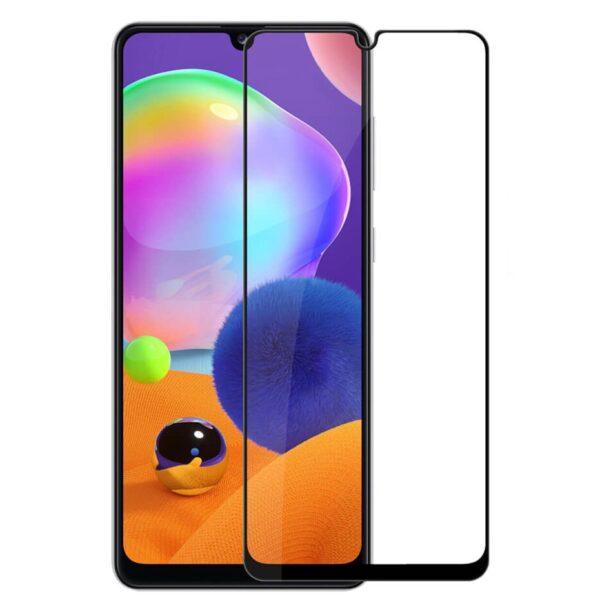 Защитное стекло 10D для Samsung Galaxy A31 c рамкой