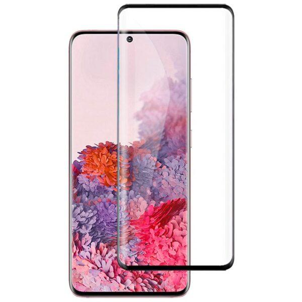 Защитное стекло 10D для Samsung Galaxy S20 c рамкой