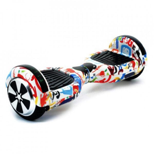 Гироскутер Smart Wheel Wo Long 6.5 Самобаланс + Музыка (белый граффити)