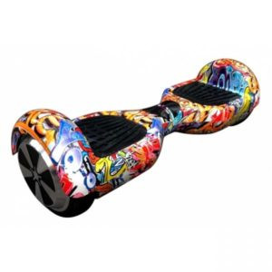Гироскутер Smart Wheel Wo Long 6.5 Самобаланс + Музыка (оранжевый граффити)
