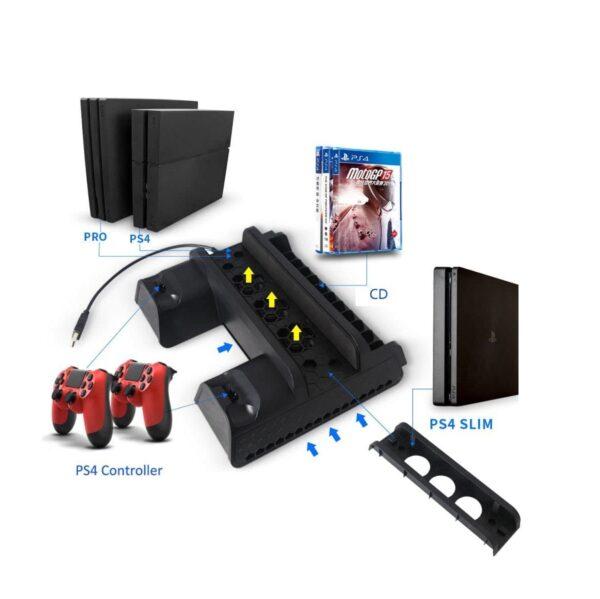 Многофункциональная подставка докстанция Dobe для PlayStation4 Slim/Pro и Dualshock4