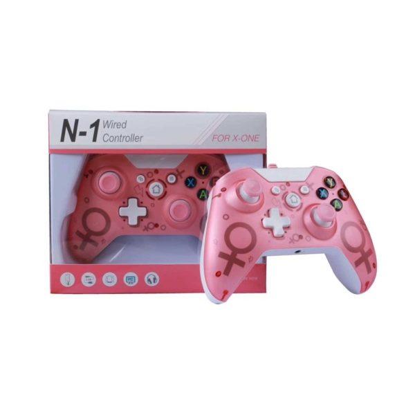 Геймпад Controller Wireless N-1 2.4G для консоли Microsoft XBOX ONE/PS3/PC беспроводной Pink (розовый)