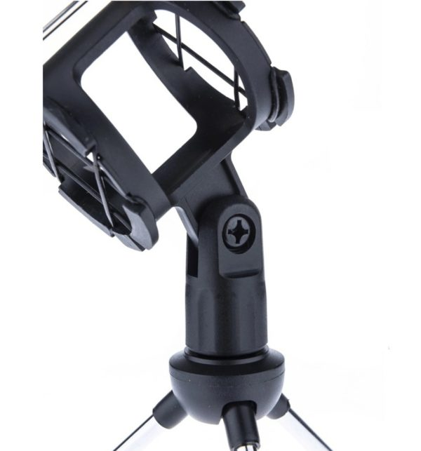 Настольный держатель для микрофона POP SHILED F-9 с акустическим фильтром, черный