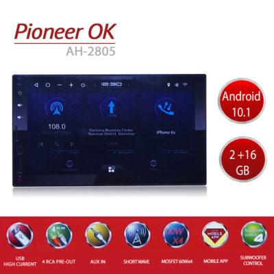 Автомагнитола 2 Din Pioneer Ok AH-2805 Android 10.1 2/16Gb