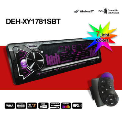 Автомагнитола Pioneer GB DEH-XY1781SBT Bluetooth 7 цветов подсветки + Джойстик