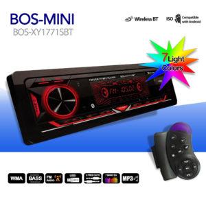 Автомагнитола BOS-MINI BOS-XY1771SBT Bluetooth 7 цветов подсветки + Джойстик