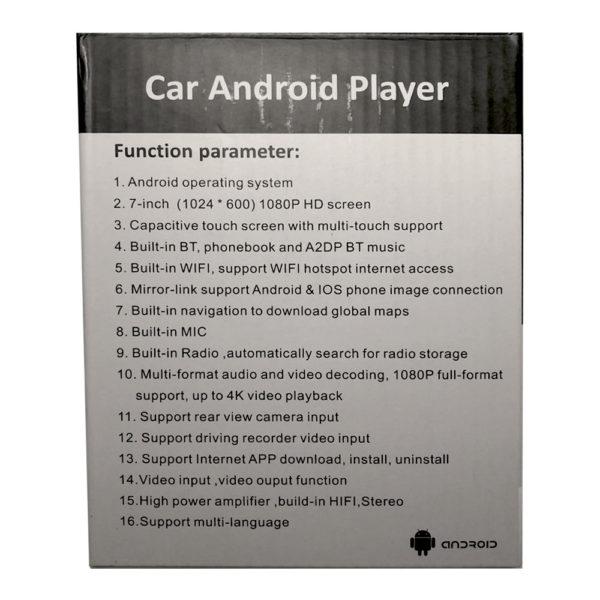 Автомагнитола 2 Din Car Android Player GYT-7918M 1/16GB