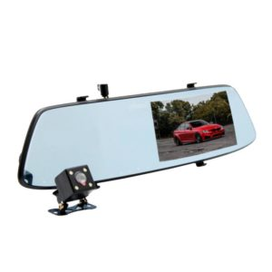 Автомобильный видеорегистратор-зеркало с 2-я камерами Full HD Eplutus D06