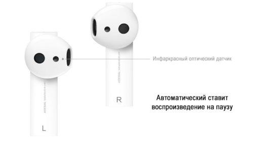 Беспроводные наушники Xiaomi Air 2 Mi True Wireless Earphones (белый)